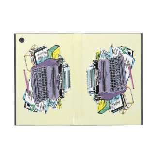 Vintage Writer's Tools Typewriter Paper Pencil Cases For iPad Mini