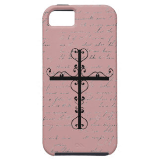 Vintage Writing and Hearts Cross iphone 5 Case
