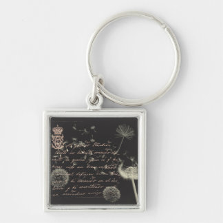 Vintage Writing Dandelion Keychain