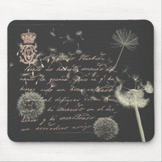 Vintage Writing Dandelion Mousepad