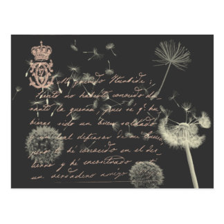 Vintage Writing Dandelion Postcard