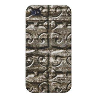 Vintage wrought iron metal covers for iPhone 4