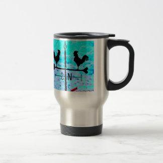Vintage Wrought Iron Weathvane NS Weathercock Travel Mug