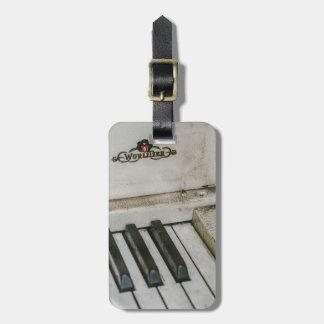 Vintage Wulitzer Electric Piano Luggage Tag