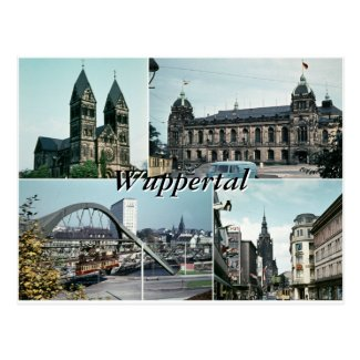 Vintage Wuppertal Photo Collage Postcard