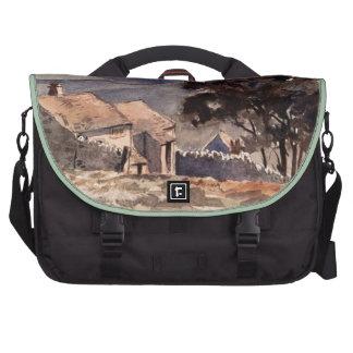 Vintage Wuthering Heights Bronte Landscape Laptop Messenger Bag