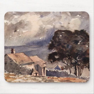 Vintage Wuthering Heights Bronte Landscape Mouse Pad