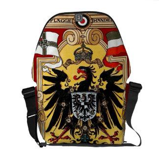 Vintage WW1 alemán del del Reich de Deutsches Bolsas Messenger