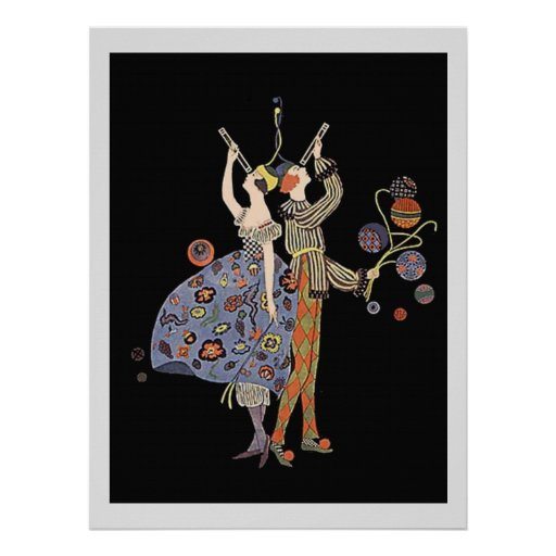 Vintage WW1 Art Deco Party Celebration Poster
