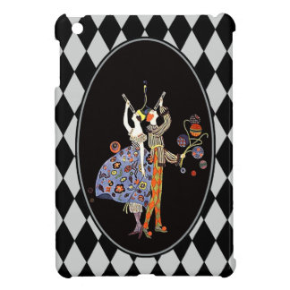 Vintage WW1 Art Deco Party Couple Harlequin iPad Mini Case