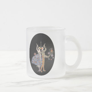 Vintage WW1 Art Deco Poster Adaptation Frosted Glass Coffee Mug