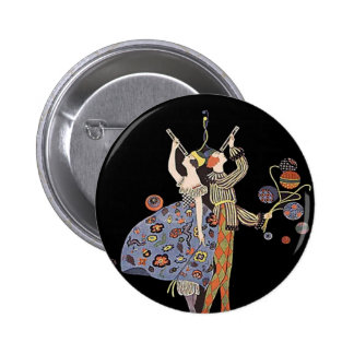 Vintage WW1 Art Deco Poster Pinback Button