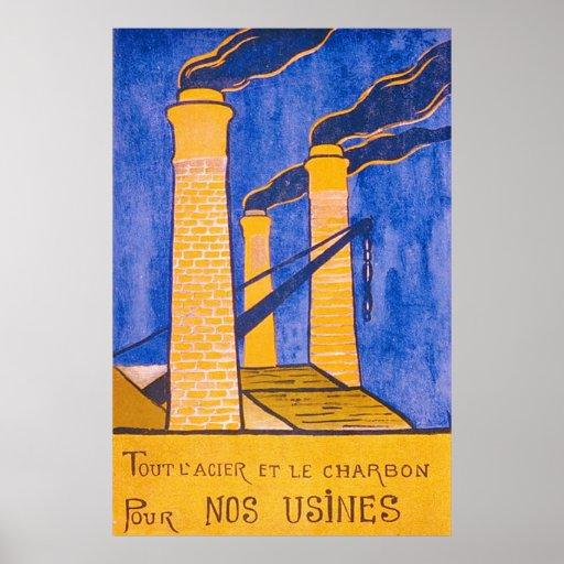 Vintage WW1. francés Póster