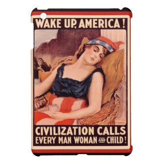 Vintage WW1 Patriotic Wake Up America iPad Mini Covers