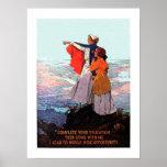 Vintage WW1 Student Nurse Recruitment Poster