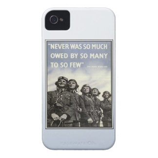 Vintage WW2 Churchill Quote Military Vets Case-Mate iPhone 4 Case