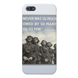 Vintage WW2 Churchill Quote Military Vets Cases For iPhone 5