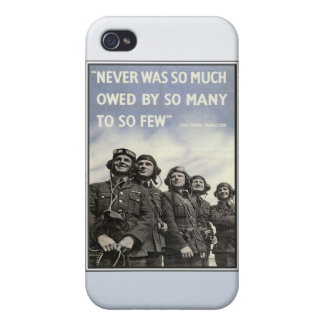 Vintage WW2 Churchill Quote Military Vets iPhone 4/4S Cover