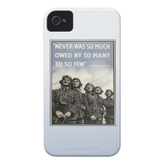 Vintage WW2 Churchill Quote Military Vets iPhone 4 Covers