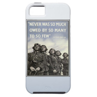 Vintage WW2 Churchill Quote Military Vets iPhone 5 Case