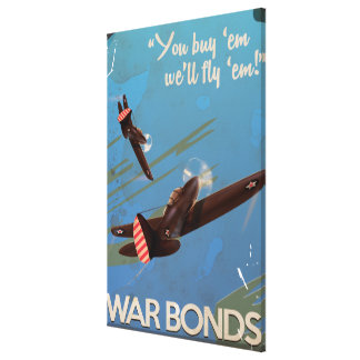 Vintage WW2 Classic Travel poster Canvas Print