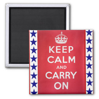 Vintage WW2 Keep Calm and Carry On 2 Inch Square Magnet