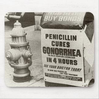 Vintage WW2 Penicillin Gonorrhea Advert Mouse Pad