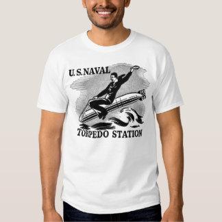Vintage WW2 U.S. Navel Station Torpedo Rider Shirts