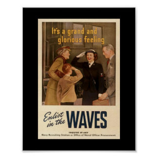 Vintage WW2 WAVES Poster