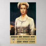 Vintage WW II Nurse Poster