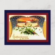 Vintage WWI Patriotic Christmas Postcard