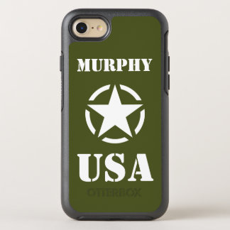 Vintage WWII Military Vehicle White Star in Circle OtterBox Symmetry iPhone 8/7 Case