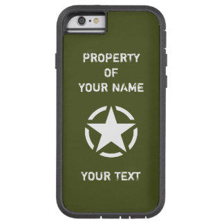 Vintage WWII Military Vehicle White Star in Circle Tough Xtreme iPhone 6 Case