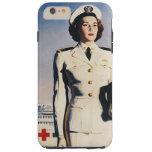 Vintage WWII Navy Nurse Tough iPhone 6 Plus Case
