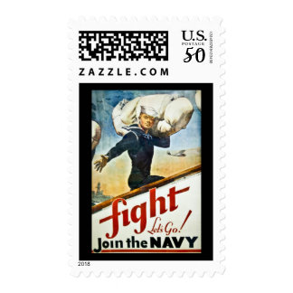Vintage WWII Navy Recruiting Postage