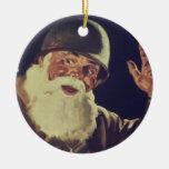 Vintage WWII Santa Ornamento De Reyes Magos