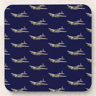 Vintage WWII US Aircraft 2 Drink Coaster