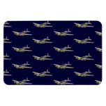 Vintage WWII US Aircraft 2 Rectangular Magnets