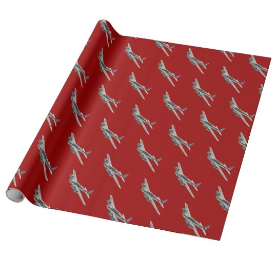 Vintage WWII US Aircraft 2 Wrapping Paper