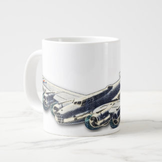 Vintage WWII US Aircraft Giant Coffee Mug