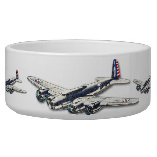Vintage WWII US Aircraft Pet Water Bowl