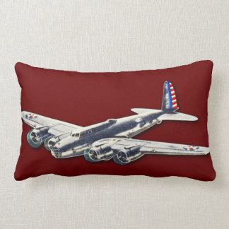 Vintage WWII US Aircraft Throw Pillows