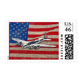 Vintage WWII US Aircraft Postage Stamps