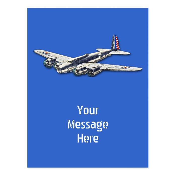 Vintage WWII US Aircraft Postcard