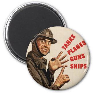 Vintage WWII War Poster Fridge Magnets