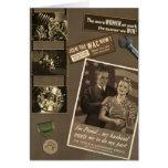 "Vintage WWII ""Women at Work"" Greeting Card"