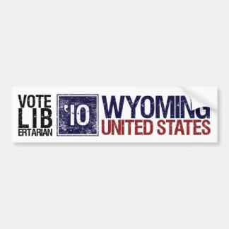 Vintage Wyoming del libertario del voto en 2010 - Pegatina De Parachoque