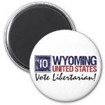 Vintage Wyoming del libertario del voto en 2010 - Imán Para Frigorífico