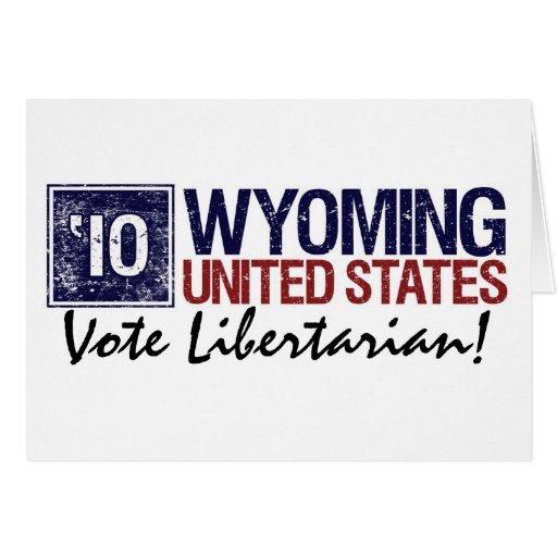 Vintage Wyoming del libertario del voto en 2010 - Felicitaciones