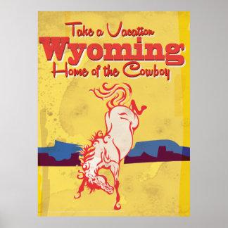 Vintage Wyoming Travel Poster